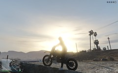 Grand Theft Auto V 01.22.2016 - 11.38.41.24 (holdz4) Tags: sunset sol girl car do moto carro gta por ruiva bandido gtav gtavonline