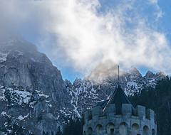 ...amidst the clouds (greg luengen) Tags: mountains castle nature landscape bayern bavaria ruin ruine neuschwanstein schloss fortress