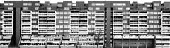 Living Silo Mono (frank_w_aus_l) Tags: panorama architecture germany de deutschland box fenster architektur monochrom nordrheinwestfalen hochhaus marl wohnsilo