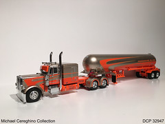 "Diecast replica of Farmers Oil Peterbilt 389 ""Liquid Motion"", DCP 32947 (Michael Cereghino (Avsfan118)) Tags: motion scale truck toy model die semi replica cast oil 164 farmer lpg liquid tanker promotions diecast dcp famers anhydrous"