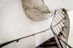 What Lies Above? (Sean Batten) Tags: city england urban london architecture stairs spiral nikon paint unitedkingdom decay gb bethnalgreen d800 1424 sivillhouse
