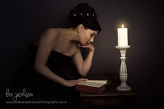 The Reader... (barbara.jackson55) Tags: portrait woman book candle fineart candlelight canon50f14 oldmaster alienskinexposure elinchromdlite canon5dmarkiii