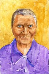01-02-2016s (Irina V. Ivanova) Tags: old portrait face lady watercolor sketch grandmother drawing board elderly aged granny babushka textured 365sketches