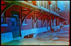 (|Digital|Denial|) Tags: old winter sky snow colour analog 35mm crossprocessed slidefilm trainstation gables ektachrome filmgrain expiredfilm brickbuildings colourshift retrochrome