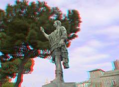 statue Julius Ceasar Rome 3D (wim hoppenbrouwers) Tags: rome roma statue bronze ceasar juliusceasar