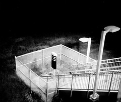 rudimentary steps (spacemanjones) Tags: urban blackandwhite film stairs stand bart urbanexploration hp5 ilford bartstation filmphotography homedeveloped standdevelopment filmisnotdead hp5400 urbanex homedevelopment