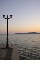 Sunset (Sunsword & Moonsabre) Tags: light sunset sea sky sunlight seascape water colors outdoors bay seaside twilight dock nikon day colours waterfront dusk greece nikkor balkan ionian peloponnese d700 nikonfx