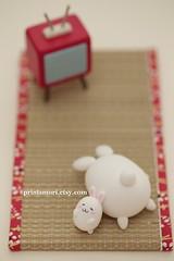 Art dolls Photography Print,Fine Art Photography Print, postcard and card (charles fukuyama) Tags: cute rabbit bunny miniature photo conejo lapin dollhouse handmadedoll ウサギ 토끼 claydoll animalsphoto dollandminiature kikuike