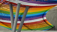 Holding the rainbow (- Cajn de sastre -) Tags: building colors metal arcoiris rainbow arquitectura edificio colores arquitecture brillante architecturalphotography metlico prgola arquitecturamoderna catchycolorsgroup 25ccfbt