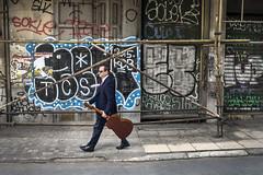 Streets of Athens (munal4) Tags: street color colour nikon grafiti guitar geometry athens greece human gitar sokak yunanistan atina grek nikondf