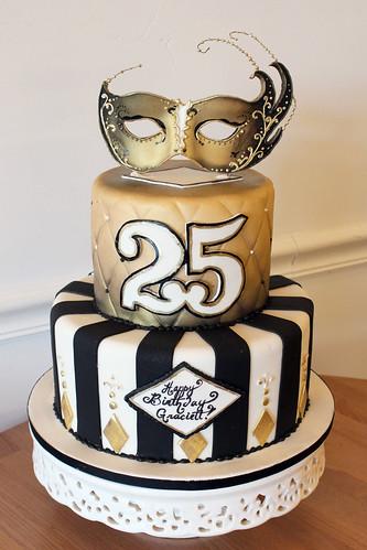 Masquerade Birthday Cake