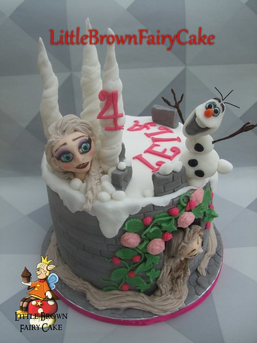 Frozen & Tangled Cake