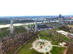 Rundflug im Stadtpark (FalkoMD) Tags: germany dom magdeburg stadtpark dji