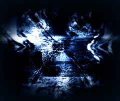Sea, sky, storm, spirits (signe_ulstrup) Tags: blue plants white black face lines reflections dark mixed wings pattern shadows spirit horizon mashup picasa surreal atmosphere shades shore blended mirrored mystical layers nordic complex intricate layered nuances fantastical