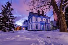 Hoheikan house -  (h4nabi77) Tags: winter light sunset snow colors japan night de landscape soleil sapporo angle lumire hiver grand neige koen paysage ultrawide nuit japon couleur nakajima couch wester hoheikan