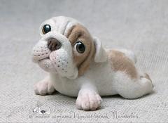 Bulldog (lively_toys) Tags: cute smile toys felting ooak bulldog needlefelting creations irinapolyakova livelytoys
