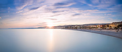 Nice - Cityscape (Long exposure) (Alex Lud) Tags: city longexposure sunset sea urban seascape france beach water clouds nice mediterranean cityscape wideangle paca 20mm 06 nisi giotto frenchriviera ndfilter gnd flickrunitedaward alexlud nikond750