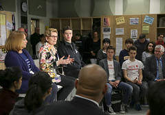 IMG_1912  Premier Kathleen Wynne engaged in a discussion with students from Danforth Collegiate and Technical Institute on financial assistance for post secondary education. (Ontario Liberal Caucus) Tags: school toronto college students education university highschool tuition potts coteau osap