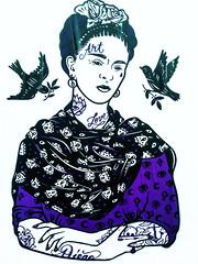... Frida y nosotros que la queremos tanto .... (Lanpernas 2.0) Tags: art love mexico libertad mujer arte amor frida pop trotsky vida 8m icono loca esperanza comunista pintura cartel artista diosa poeta pasion sufrimiento azteca sigloxx amante feminista