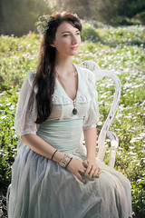 (Mr. Muggles) Tags: world old girl field spring pretty dress outdoor medieval innocence romantic boho bohemian maiden oldfashioned preraphaelite