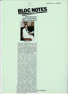 PRESSE MICHEL SOGNY BIBA SEPTEMBRE 1981
