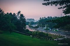 Chollima Statue at Sunset (reubenteo) Tags: sunset building sunrise landscape asia korea communist communism kimjongil socialist socialism northkorea pyongyang kimilsung kimjongun