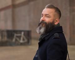 half smile (Cosimo Matteini) Tags: portrait england london boyfriend pen beard unitedkingdom bricks olympus tatemodern gb m43 mft michaelwhite ep5 cosimomatteini mzuiko45mmf18