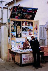 Sailor shopping, Robber's Alley, Yokosuka, Dec. 1953 (Anaguma) Tags: japan nikon navy kii yokohama slides kanto yokosuka 1953 photocopied nipponkogakus