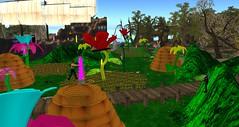 Avilion Nexus, Knight ANI (Osiris LeShelle) Tags: life flowers garden fun dangerous bees medieval fantasy secondlife ants second knight combat ani nexus initiative avilion roleplaty