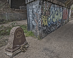 Memorial Wall (Mister Spock 1701) Tags: wall graffiti canal birmingham memorial tag headstone police junction valley spaghetti m6 tame officer towpath