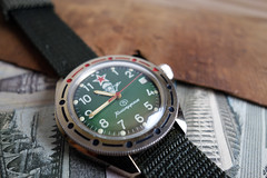 Vostok Komandirskie (Ch0jiN) Tags: green russia military watch dive soviet wristwatch russian vostok  komandirskie