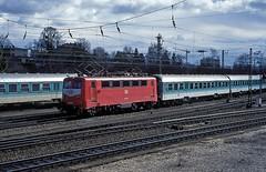 141 036  Ulm  26.02.97 (w. + h. brutzer) Tags: analog train germany deutschland nikon eisenbahn railway zug trains db locomotive 141 ulm lokomotive elok e41 eisenbahnen eloks webru