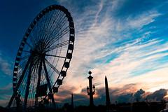 Like Coachella (T?M) Tags: sunset paris canon landscape grande place mark 28mm explore ii concorde coachella roue