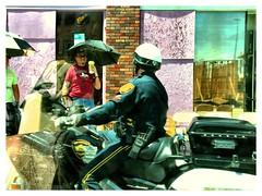 Patrolling the Parade (photo.po) Tags: canon parades streetphoto celebrating policeofficers motorcyclecop fiestasanantonio flickrclubsa canong10 canoncompactcameras