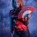 DSC_0269 Somali Lady Portrait Red Chinese Silk Mandarin Dress  Shoreditch Studio London