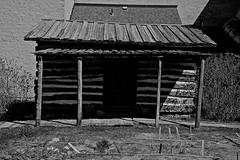 Gannon Log Cabin - Union IL (Meridith112) Tags: wood blackandwhite bw home mono illinois spring cabin nikon union logs 1966 il logcabin gannon april restoration 1843 crystallake 2016 mchenrycounty ronnelson nikon2485 edgannon jamesgannon nikond610 mchenrycountyhistoricalmuseum lukegannon margaretgannon gannonlogcabin