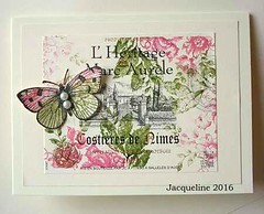 Wine label card (Jacqueline.fr) Tags: butterfly winelabel