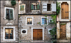 Kotor Door (Alex - Born To Be Free) Tags: door panorama window stone landscape landscapes doors panoramic finestra porta di montenegro kotor baia olddoor panora balcani kotorbay balcan bocchedicattaro