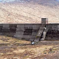 Allt-na-Lairige dam (Adam Fowler) Tags: film argyll hasselblad projects hydroelectric asa100 hasselblad503cw kodakektar100 glenfyne