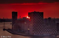 STC College Rotterdam (CapMarcel) Tags: sunset netherlands rotterdam stc