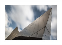 Killing Time II (andyrousephotography) Tags: longexposure sky motion blur architecture modern clouds salfordquays drift iwmn imperialwarmuseum 10stops bigstopper