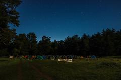bolu aladalar (emrecalhan) Tags: longexposure blue camping sky green nature night canon stars tent 600d