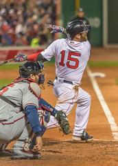 PEDROIA (jlucierphoto) Tags: park sport major hit baseball outdoor swing fenway leagues