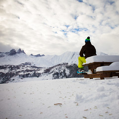Alone in mountains (Zeeyolq Photography) Tags: winter wild snow mountains nature alone