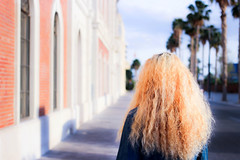 (NortesR) Tags: summer portrait woman sun girl canon hair back spring long young curly palmtree soul blonde faceless 40mm anonymous 600d