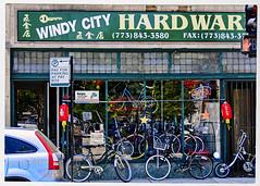 Windy City Hard War (swanksalot) Tags: chicago bike bicycle sign keys star hardware war hard halsted windycity