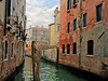 A mooring pole and very charming decayed houses (VillaRhapsody) Tags: venezia venedig venice italy winter citytrip canal mooringpole houses builidngs decay water colors colorful challengeyouwinner cy2