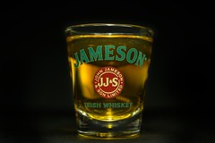 Liquid Sun Drops (Keith Ouellette) Tags: shot whiskey alcohol shotglass jameson jamesonirishwhiskey