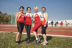 la 4x100 master: Serenella Tiberi, Francesca Raschioni, Cristiana Cervigni, Anna Moretti