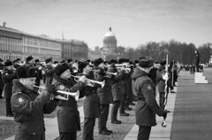 Military Brass Band Practice in Palace Square - St Petersburg, Russia (phlorgan) Tags: travel saint st stpetersburg asia europe russia military band petersburg palace hermitage russian brass brassband bandpractice palacesquare victoryday may9th